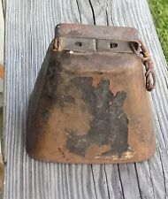Antique Pressed Steel Cow  Bell With Original Clapper