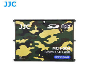 JJC MCH-SD4 Portable Memory Card Storage Holder Case for 4 SD Cards