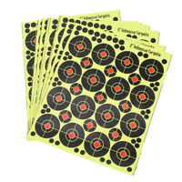 160pcs/10 sheets Shooting Targets Glow Florescent Paper Target for Hunting`Ar SL
