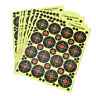 160pcs/10 sheets Shooting Target Glow Florescent Paper Target for Hunting Arr fi
