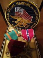 """US NAVY SPEC OPPS WARRIOR """"THE NAM"""" BRONZE STAR +2 MEDALS +9 RIBBONS SPEC PATCH"""