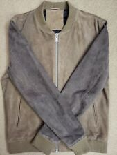 Selected Homme Mens 100% Suede Dark/Light Brown Two Tone Jacket Large