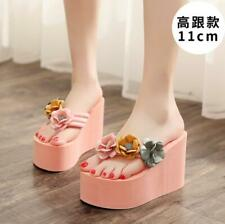 6Cm/11Cm High Heels Slipper Sandals Lady's Flowers Holidays Leisure Shoes Jin20