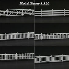 1 Meter Model  Trains N Scale White Building Fence Wall 1:150 Railway Diorama