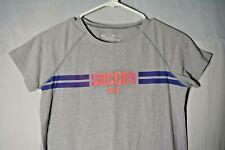Under Armour Girls Youth Large Gray Soccer Heatgear Loose Short Sleeve Shirt
