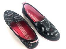 Keds Aria Black White Polka Dot Flats Women's 9.5 excellent condition