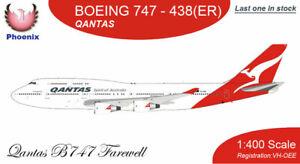 New Phoenix Qantas Boeing 747-438 ER (VH-OEE) Qantas B747 Final Farewell