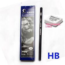 MARIE'S C7401 DRAWING pencil model HB (10 piece per box) BLACK (FREE 1 ERASER)