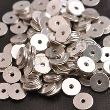 Antique Silver Plane Ring Spacer Beads Findings 10MM Metal Charm M3079