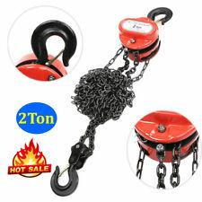 Chain Hoist Block 2 Ton Winch Capacity Manual Lift Puller Fall Hand Tools