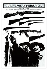 """Cuban decor Graphic Design movie Poster for""""The Main ENEMY""""Bolivian film art"""