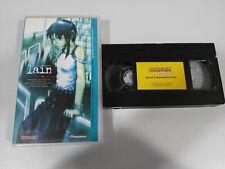 Serial Experiments Lain Chiaki J Konada - VHS Tape Anime Manga Spanish