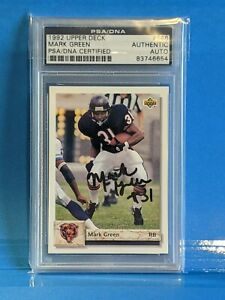 Mark Green 1992 Upper Deck signed/auto - PSA/DNA - Notre Dame Collection