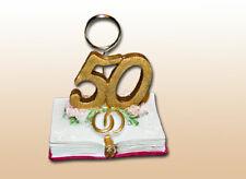 Tischkartenhalter Buch mit Clip zur Goldenen Hochzeit