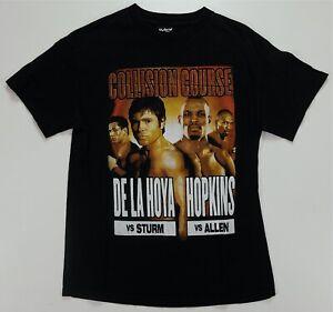 Rare VTG HYBRID Collision Course De La Hoya Hopkins 2004 T Shirt 2000s Boxing M