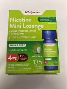 Walgreens Nicotine Mini Lozenge, 4 mg,135pcs, Mint Flavor, Exp: 01/2023
