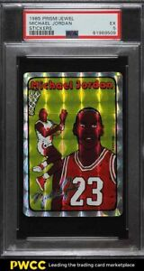 1985 Prism Jewel Stickers Basketball Michael Jordan ROOKIE RC PSA 5 EX