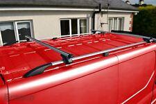 Per adattare 02-14 Renault Trafic Swb ALLUMINIO TETTO RAILS IN ACCIAIO CAST fine + barre trasversali