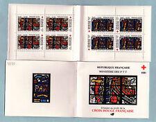 Carnet Croix Rouge N°2030 1981 : Timbres N°2175 + 2176. Vitraux Sacré Coeur