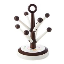 8 Cup Mug Tree Wire Stand Holder Cups Mugs Hanger Drainer Storage Rack Brown
