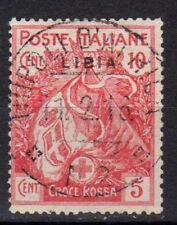 LIBIA 1915 Croce Rossa 10c +5c USATO (CL)