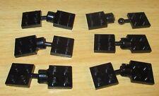 788 Lego Platte mit Clip 1x2 Schwarz 5 Stück