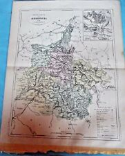 Old Map 1900 France Département Ardennes Charleville Mézières Rethel Sedan
