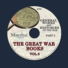 The Great War books Vol. 3 Part 2,Nations engaged 139 PDF EBooks on 1 DVD
