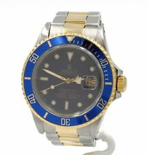 ROLEX BLUE DIAL SUBMARINER STAINLESS STEEL & 18K YELLOW GOLD 40 MM WATCH #8490