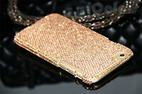 Bling Gold Crystal Case Cover Skin For iPhone 6s 7 8 Plus W/H Swarovski Elements