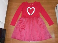 RED Holiday Christmas candy cane dress with tulle skirt size XL 14-16
