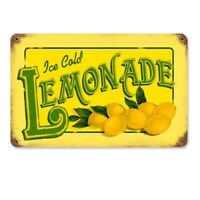 Vintage Lemonade Tin Sign Metal