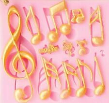 MUSICAL NOTES SILICONE MOULD-EPOXY RESIN/ICING MOLD/MUSIC/TREBLE CLEF/QUAVER