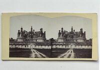 Castello di Chambord Francia Fotografia Stereo Vintage Albumina c1865