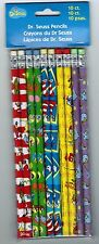 Set of 10 Dr Seuss Pencils! Nip Cat in the Hat Horton Hears a Who Green Eggs Ham