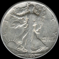 A 1943 S Walking Liberty Half Dollar 90% SILVER US Mint (Exact Coin Shown) AJ1