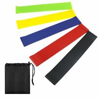 Resistance Bands Exercise Loop Band Set of 5 Perfect for Home Gym Fitness Yoga
