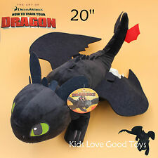 """How to Train Your Dragon Plush Toothless Night Fury Soft Toy Doll Teddy 20"""" BIG"""