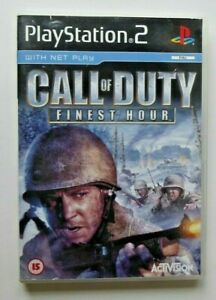 CALL OF DUTY FINEST HOUR for PS2 PLAYSTATION 2 - TESTED & FAST FREE POSTAGE