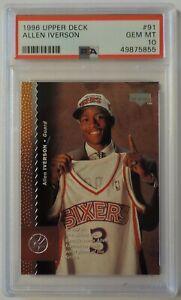 Allen Iverson 1996 Upper Deck #92 Rookie Card PSA 10