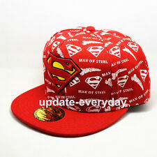 New Superman Red Cosplay Snapback Hiphop adult baseball cap hat Man of Steel