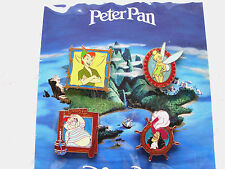 Disney * PETER PAN * Hook Smee Tink Peter Pan * New in Pack 4 Pin Booster Set