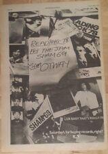 Reading festival Jam sham 69 otway 1978 press advert Full page 28 x 39 cm poster
