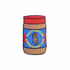 Peanut Butter Appreciation Club Iron On Patch Funny Gift Clothing Transfer Appli