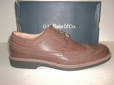 G.H. Bass & Co. Size 12 M Windsor Brown Leather Wingtips Oxfords New Mens Shoes