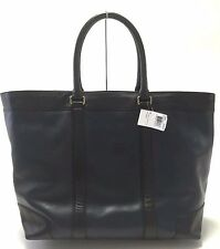 NWT COACH BLEECKER HARNESS LEATHER WEEKEND TOTE BRASS NAVY BLACK F70983