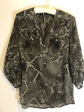 Fred David Womens Snake Top Size XS/TP Gray