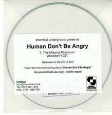 (DG131) Human Don't Be Angry, The Missing Plutonium - DJ CD