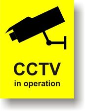 CCTV Warning Sign RIGID PLASTIC 200 x 150mm Intruders