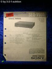 Sony Service Manual SEQ V901 Graphic Equalizer  (#0947)